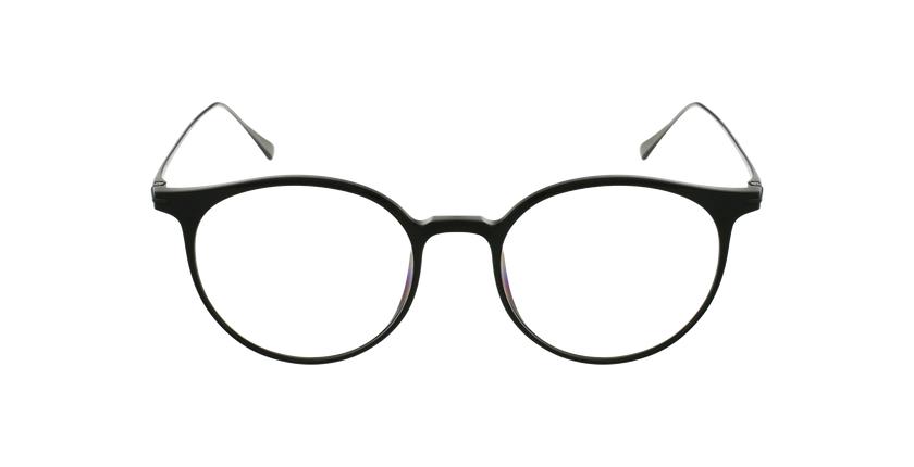 Óculos graduados MAGIC 67 BK preto/prateado - Vista de frente