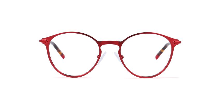 Óculos graduados homem LOM7240 vermelho - Vista de frente