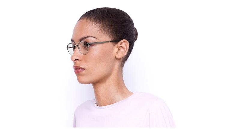 Óculos graduados senhora OAF20524 BLSL (TCHIN-TCHIN +1€) preto/prateado - vue de 3/4