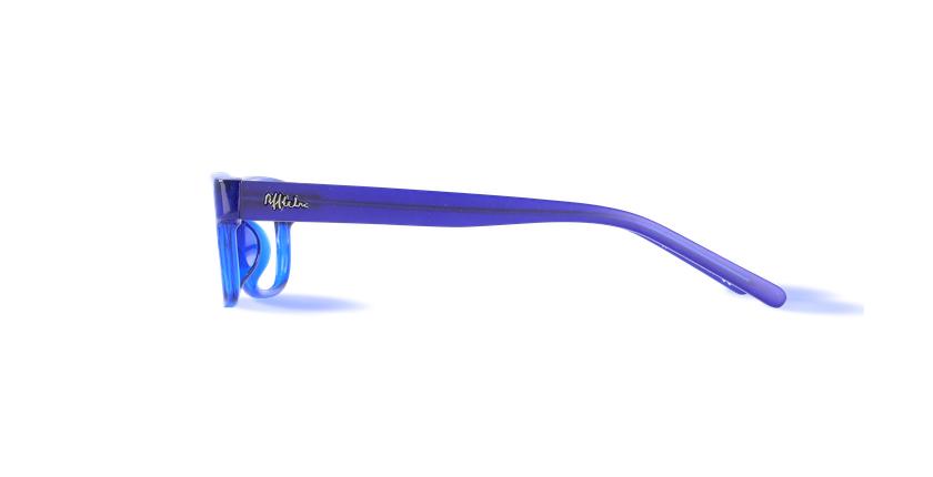 Óculos graduados criança ENZO azul - Vista lateral