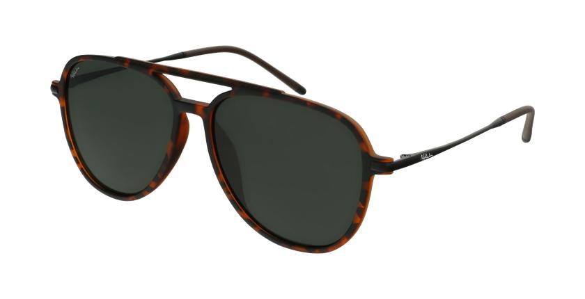 Óculos de sol homem RILEY POLARIZED TO tartaruga /preto - vue de 3/4