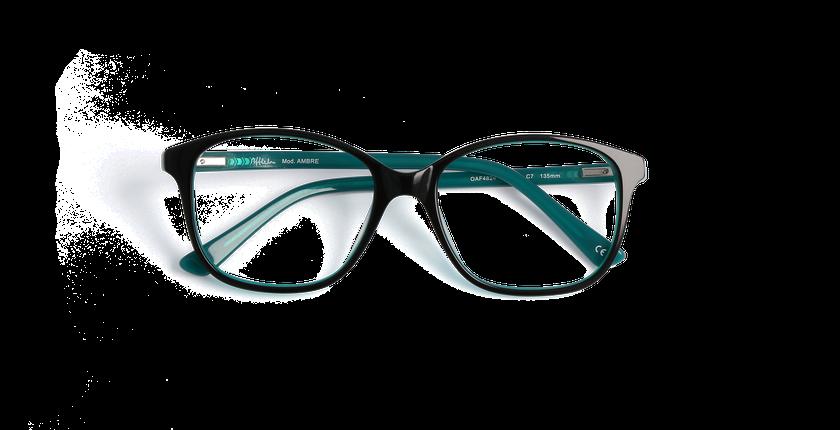 Lunettes de vue femme AMBRE bleu - vue de face