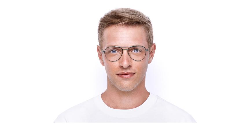 Lunettes de vue homme MAHE noir - Vue de face