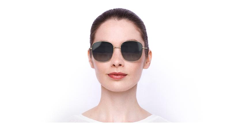 Lunettes de soleil femme BA5010S doré - Vue de face