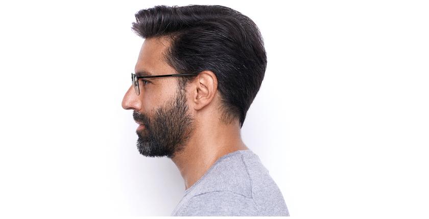 Óculos graduados homem CORENTIN (Tchin-Tchin +1€) preto/cinzento - Vista lateral