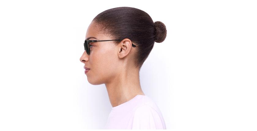 Óculos de sol senhora LILA TO tartaruga /preto - Vista lateral