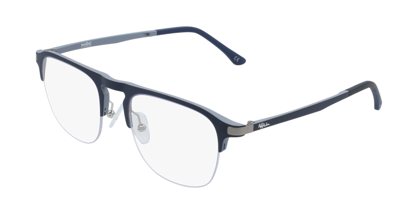 Óculos graduados homem MAGIC 57 BLUEBLOCK - BLOQUEIO LUZ AZUL azul/cinzento - vue de 3/4
