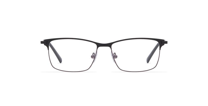 Lunettes de vue homme CORENTIN noir/gris - Vue de face