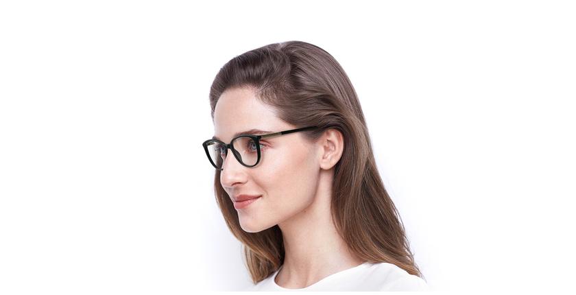 Óculos graduados senhora ALEXA BK (TCHIN-TCHIN +1€) preto - vue de 3/4