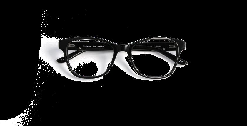 Gafas graduadas mujer SAPHIR negro - vista de frente