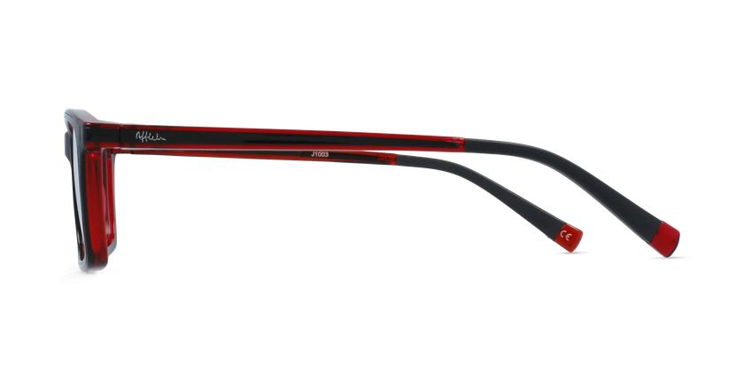 Lunettes de vue enfant RFOC1 noir/rouge - Vue de côté