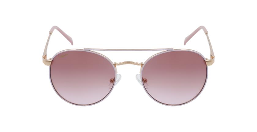 Óculos de sol criança SANTIAGO PK rosa/dourado - Vista de frente