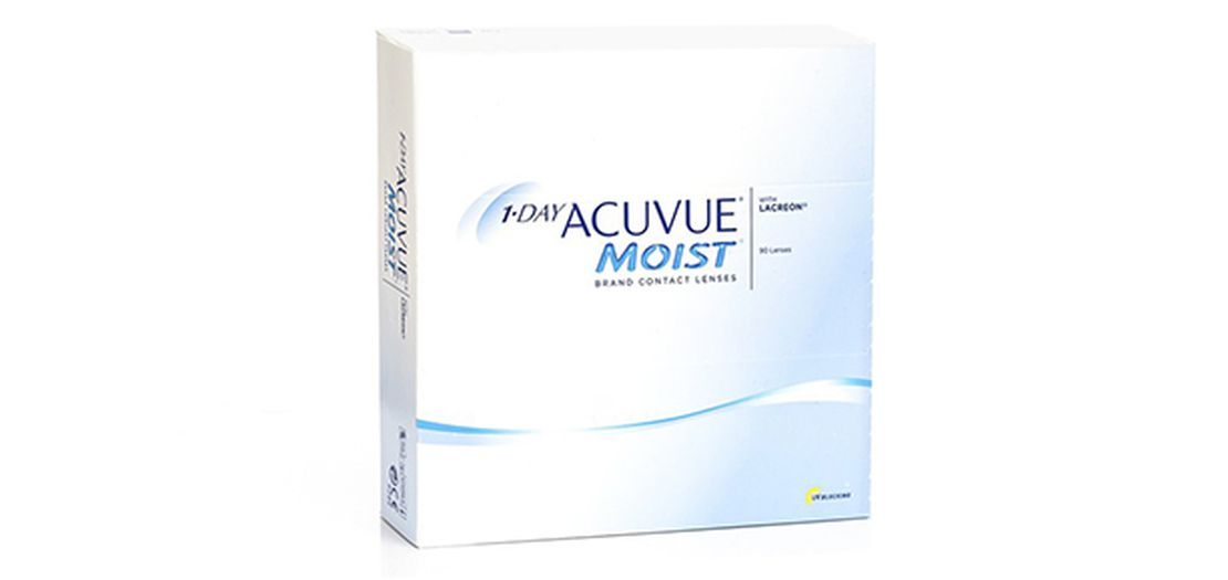 Lentilles de contact 1 Day Acuvue® Moist® 90L