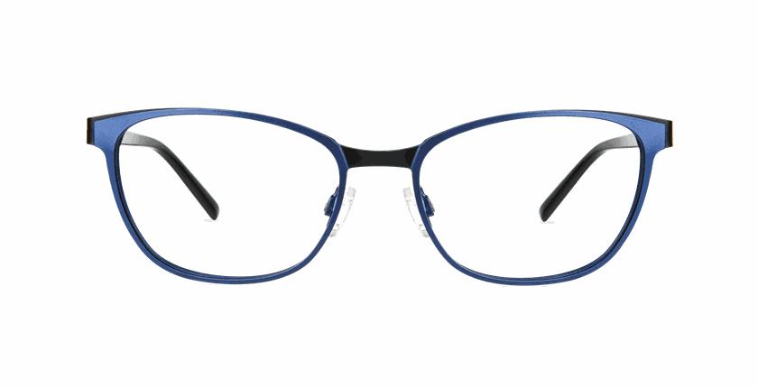 Lunettes de vue femme ALPHA4 bleu - Vue de face