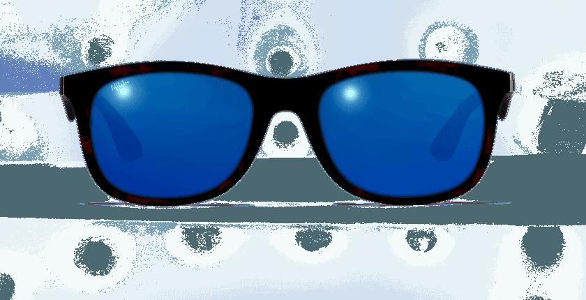 Lunettes de soleil homme AREZZO POLARIZED écaille - Vue de face