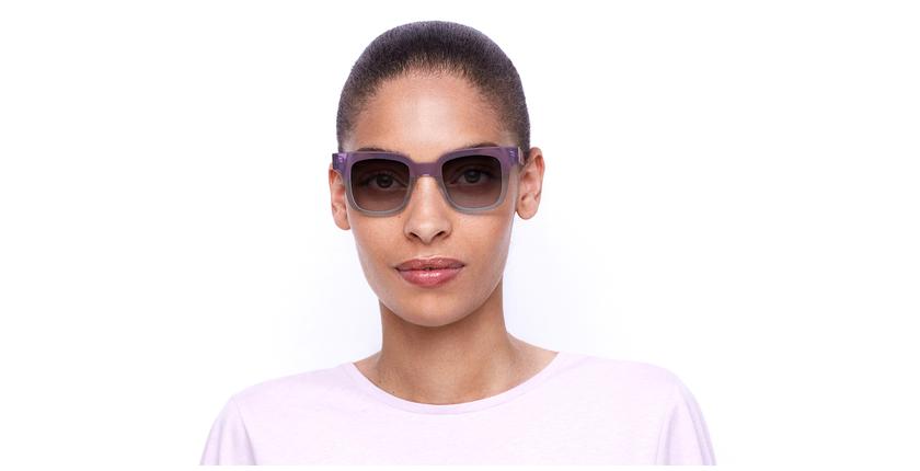 Óculos de sol senhora KAREN BL violeta/azul - Vista de frente