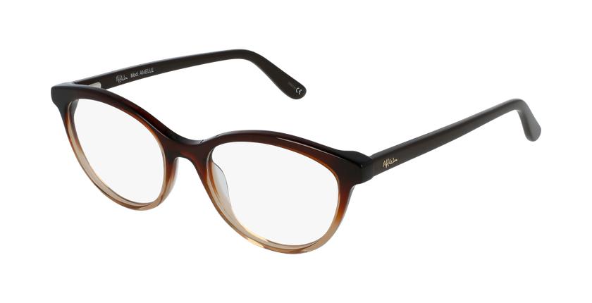 Óculos graduados senhora Amelle br (Tchin-Tchin +1€) castanho - vue de 3/4