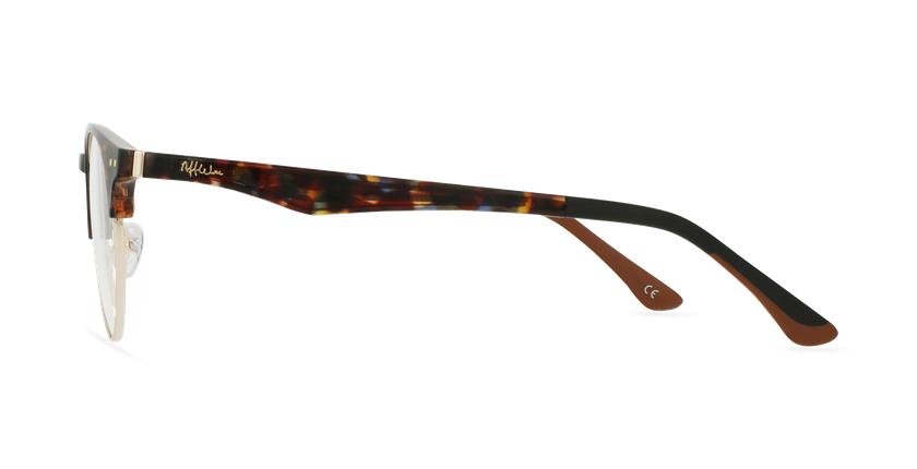 Óculos graduados MAGIC 93 TO ECO FRIENDLY tartaruga/dourado - Vista lateral