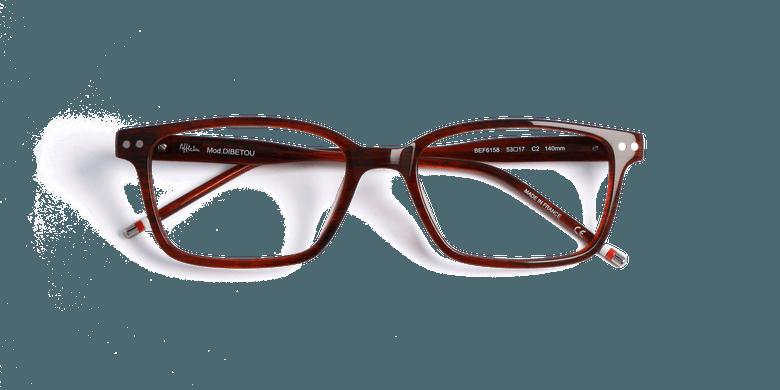 Gafas graduadas hombre DIBETOU marrón