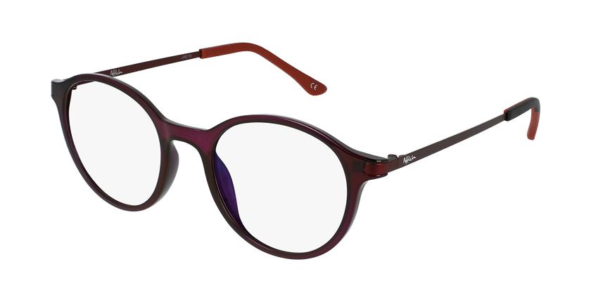 Óculos graduados senhora MAGIC 37 PU BLUEBLOCK - BLOQUEIO LUZ AZUL violeta - vue de 3/4