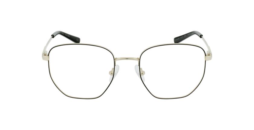 Óculos graduados senhora ERIN BK (TCHIN-TCHIN +1€) preto/dourado - Vista de frente