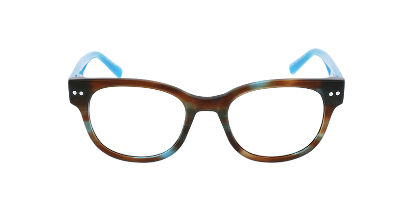 Óculos graduados senhora SWAN BR (TCHIN-TCHIN +1€) castanho - Vista de frente