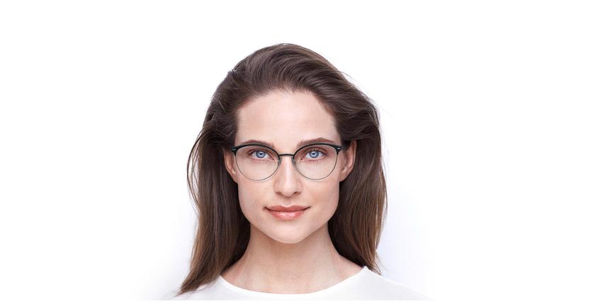 Lunettes de vue femme SUE bleu - Vue de face