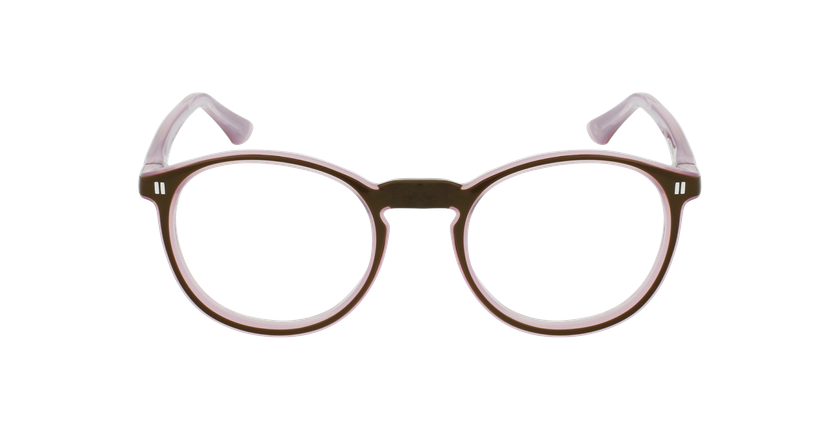 Óculos graduados criança REFORM TEENAGER (J4 BRPK) castanho/rosa - Vista de frente