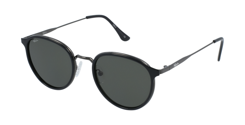 Óculos de sol AVILES BK preto/metalizado - vue de 3/4