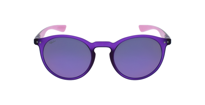 Óculos de sol senhora KESSY POLARIZED PUPK violeta/rosa - Vista de frente