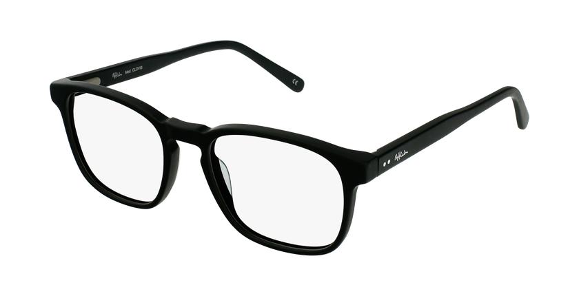 Óculos graduados homem CLOVIS BK (TCHIN-TCHIN +1€) preto - vue de 3/4
