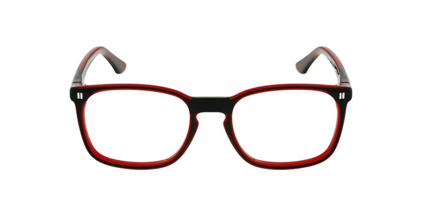 Óculos graduados criança REFORM TEENAGER (J2BKRD) preto/vermelho - Vista de frente