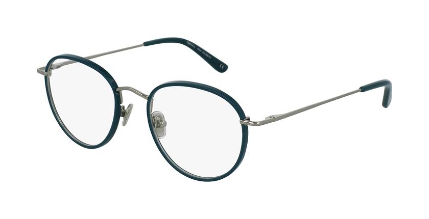 Óculos graduados SHUBERT GR prateado/turquesa - vue de 3/4