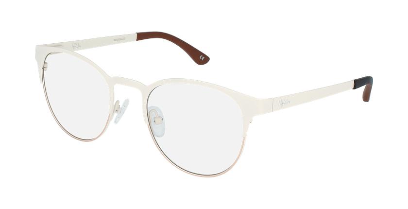 Óculos graduados senhora MAGIC 44 BLUEBLOCK - BLOQUEIO LUZ AZUL branco/cinzento - vue de 3/4