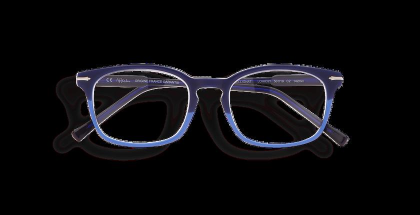 Lunettes de vue homme BELLIGNAT bleu/rouge - Vue de face