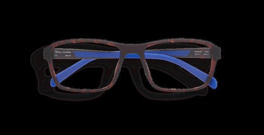 Gafas graduadas hombre BIRDIE carey/azul - vista de frente