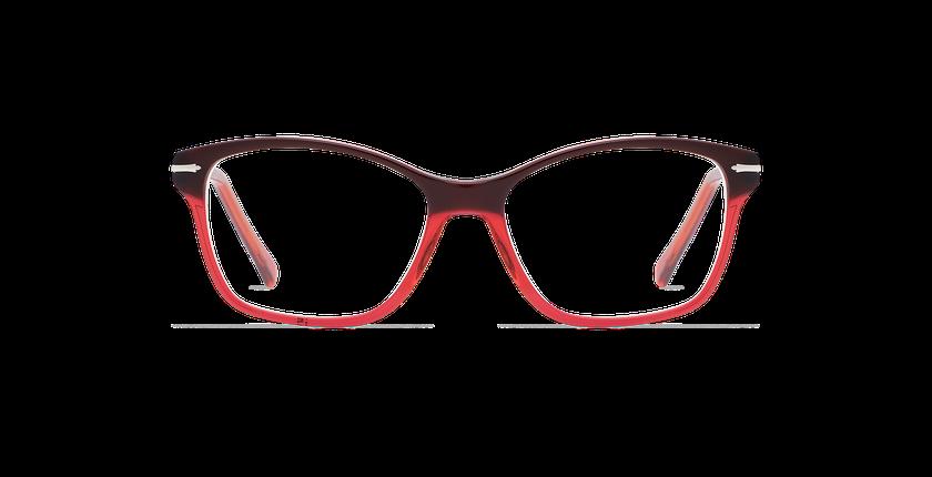 ... Lunettes de vue femme LADOYE rouge violet - Vue de face ... 68176c5fee77
