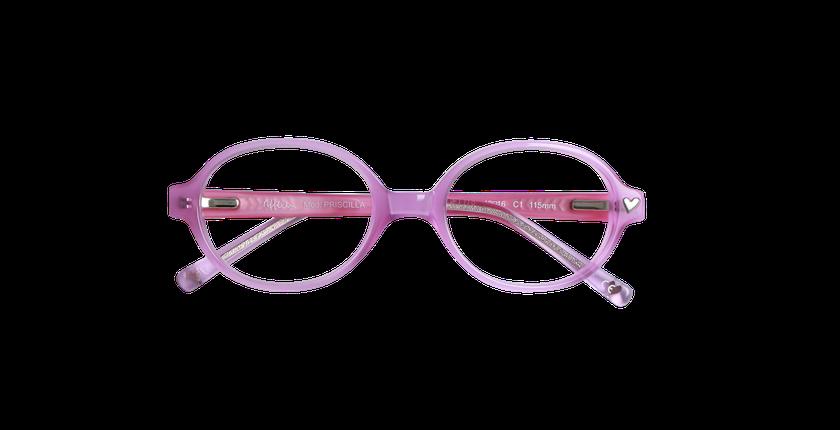 Lunettes de vue enfant PRISCILLA violet - vue de face