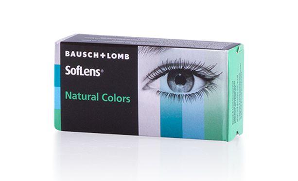 Lentilles de contact SOFLENS NATURAL COLORS AQUAMARINE - Vue de face