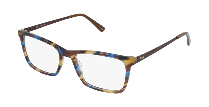 Óculos graduados homem MARC BL (TCHIN-TCHIN +1€) azul/castanho - vue de 3/4