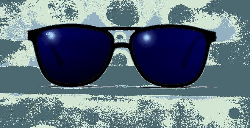 Lunettes de soleil homme SOLIS noir - vue de face