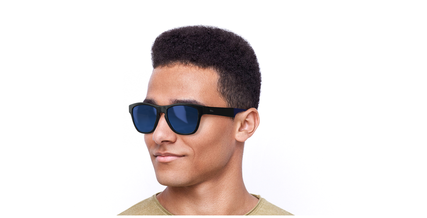 Óculos de sol homem GEANT POLARIZED TO tartaruga/azul - vue de 3/4