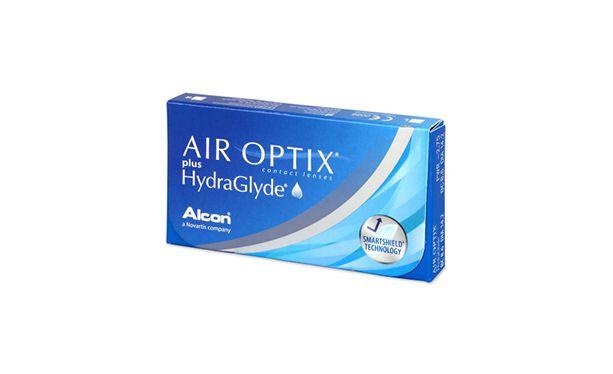 Lentilles de contact Air Optix Plus HydraGlyde® 3L - Vue de face