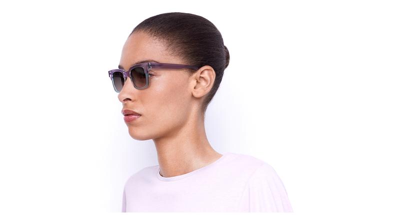 Óculos de sol senhora KAREN BL violeta/azul - vue de 3/4