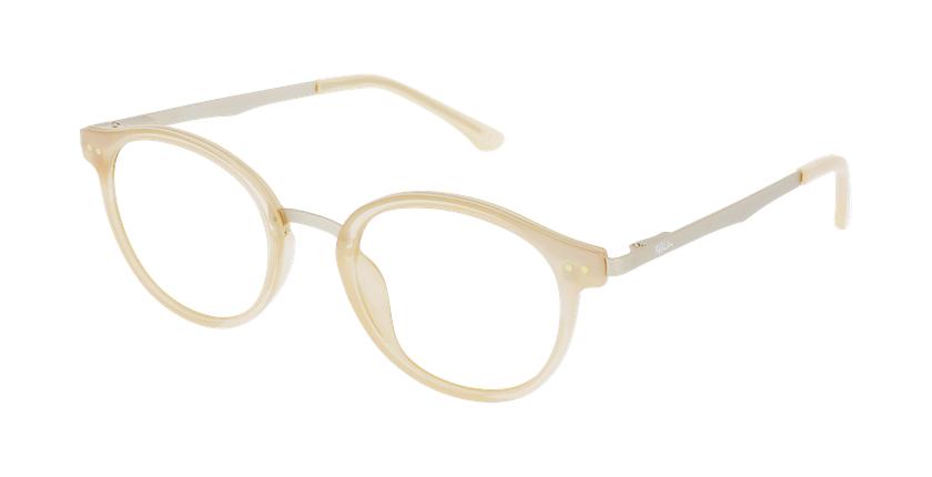 Óculos graduados senhora MAGIC 97 BGGD bege/dourado - vue de 3/4