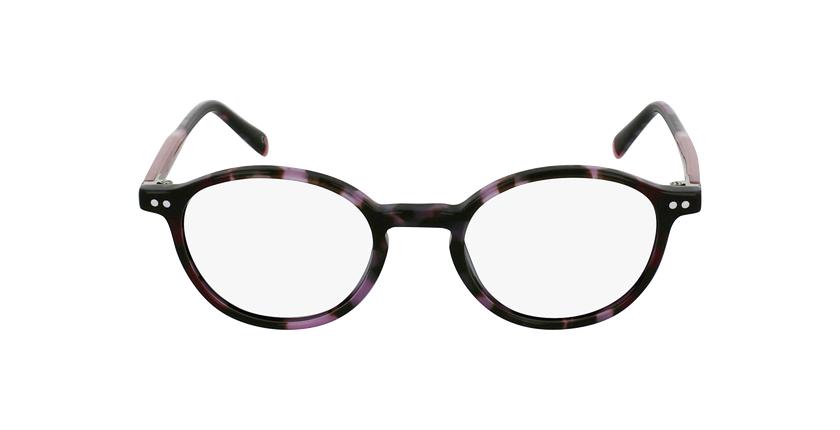 Lunettes de vue BIZET violet - Vue de face