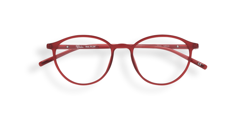 Gafas graduadas mujer LIGHT TONIC rojo - vista de frente