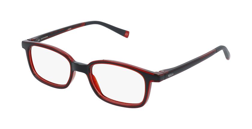 Óculos graduados criança RFOP1 BK REFORM preto/vermelho - vue de 3/4
