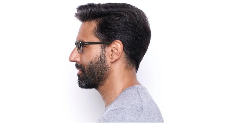 Óculos graduados homem LEON BK (TCHIN-TCHIN +1€) preto - Vista lateral