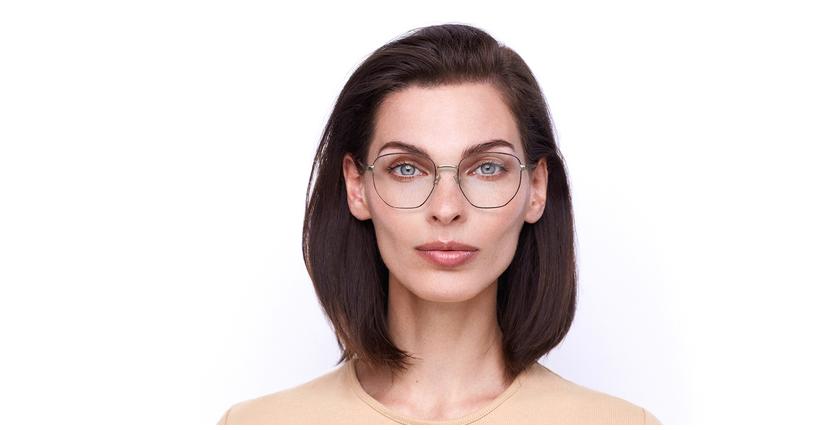 Óculos graduados senhora ERIN BU (TCHIN-TCHIN +1€) vermelho/dourado - Vista de frente
